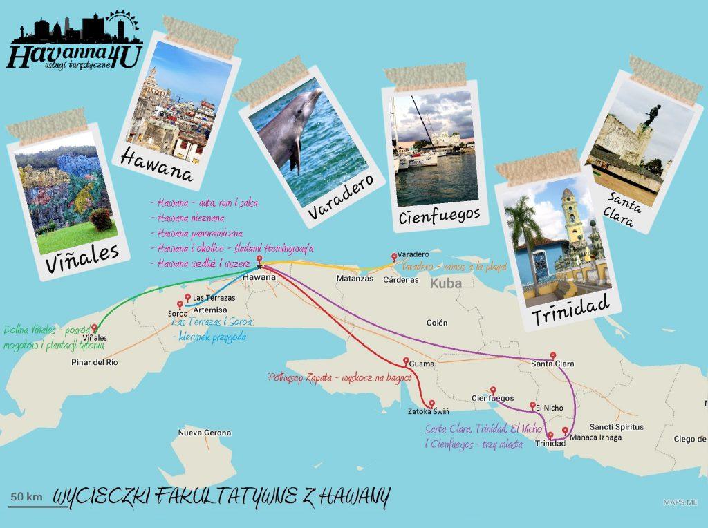 Wycieczki fakultatywne z Hawany